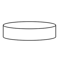 Hockey puck icon outline style vector