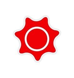 Icon sticker realistic design on paper sun vector