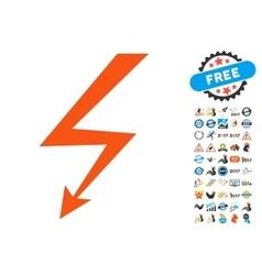 Lightning strike icon with 2017 year bonus vector