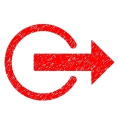 Logout grainy texture icon vector