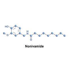 nonivamide pelargonic acid vanillylamide vector image vector image