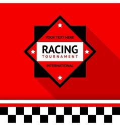 Racing badge 02 vector