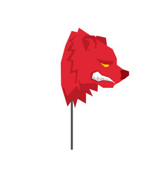red bear trader mask guise player on stock vector image