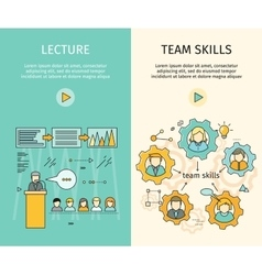 Set of Business Education Web Banners vector image vector image