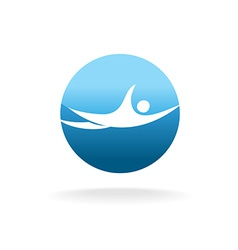 Swimming man sign pool or beach logo concept vector