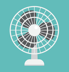Table fan flat icon household and appliance vector
