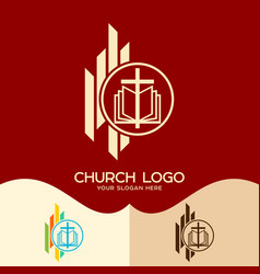 The cross of jesus and the bible vector