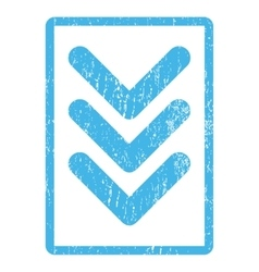 Triple arrowhead down icon rubber stamp vector