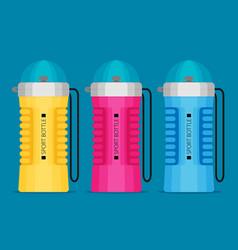 water bottle flat design - eps 10 vector image vector image