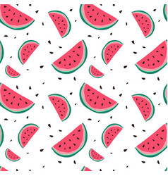 Watermelon seamless pattern colorful summer vector