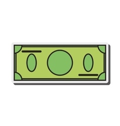 Blank dollar bill icon vector