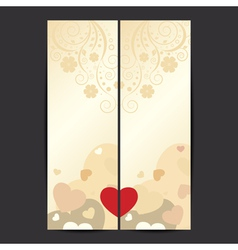 Set of valentines day banner vector