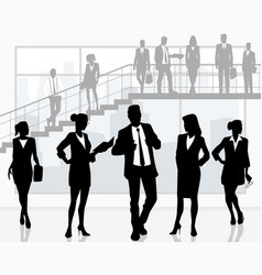 business people in office vector image