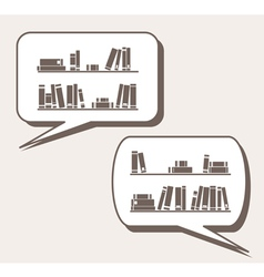 Conversation about knowledge books learning vector