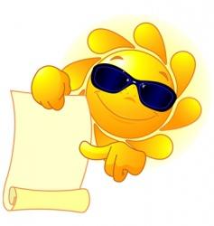 sun shows a scroll vector image