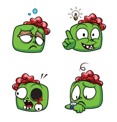 Zombie head cartoon vector