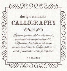 Page decoration template vintage frame vector