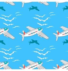 AirplanePattern vector image