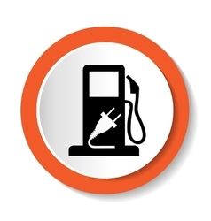 Fuel web icon vector