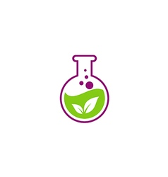 Herbal leaf extract chemical logo vector