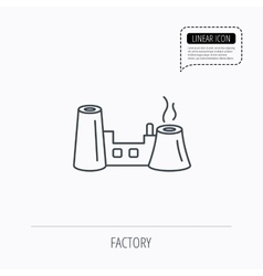Factory icon industrial building sign vector