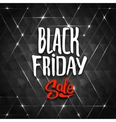 Black friday sale background with triangles vector