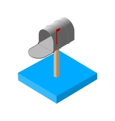 Isometric mail icons 3d pictograms mailbox email vector