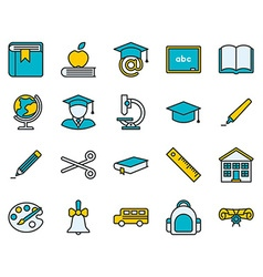 Education colored icon vector