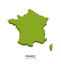 Isometric map of france detailed vector