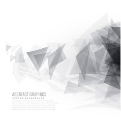 Abstract gray triangle shapes burst vector