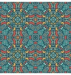 Abstract mosaic bohemian geometric print vector