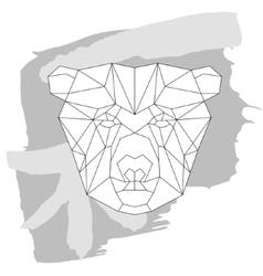 Bear head triangular icon geometric trendy vector