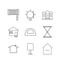 Buildings construction and industry linear icon vector