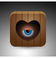 Cartoon eye icon vector image