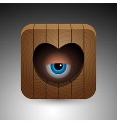 Cartoon eye icon vector image vector image