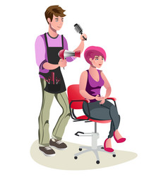 Cute barber character vector