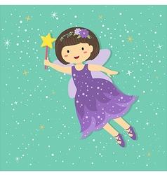 Cute Little Purple Fairy vector image