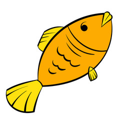 Dry fish icon icon cartoon vector