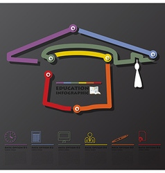 Education and graduation connection timeline vector