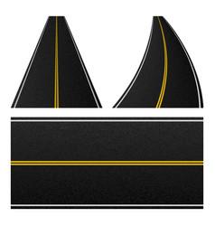 element of road stripe set of marking highway vector image