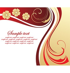 Floral Backdrop with Text Space vector image vector image