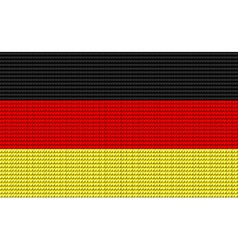 Germany flag embroidery design pattern vector