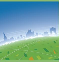 Milan skyline aerial view vector