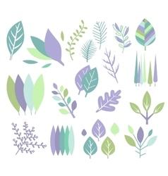 Modern design leaf prints set vector
