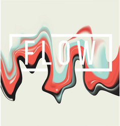 Paint flow background vector