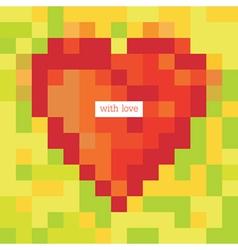pixel heart symbol vector image vector image