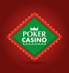 poker casino banner shining billboard retro vector image