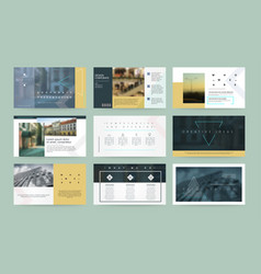 presentation templates business template for vector image