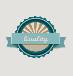 Retro quality label vector image vector image