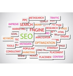 SEO - Search Engine Optimization background vector image
